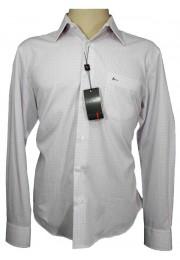 Camisa Social Aramis Branca / Listras Laranja-Azuis  Tam M