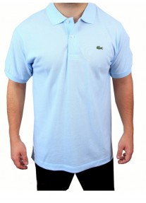 Camisa Polo Lacoste Ruisseau 100% Prima Cotton Azul Claro