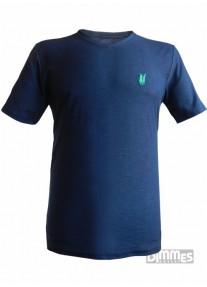 Camiseta Polowear  Gola V  Azul  Esc.TEXTURIZADA Tam. M  -  639800/5165